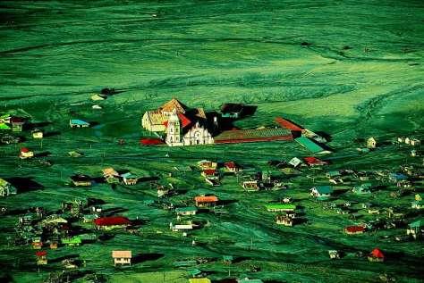 Village de Bacolor sous une coulée de boue