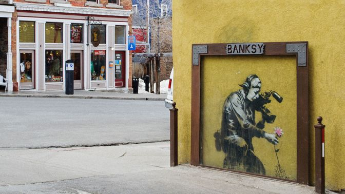 Man Accused of Vandalizing Banksy Images