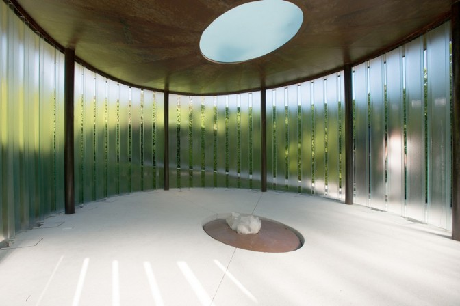 Beautiful Meditation Chapel Features Modern Design