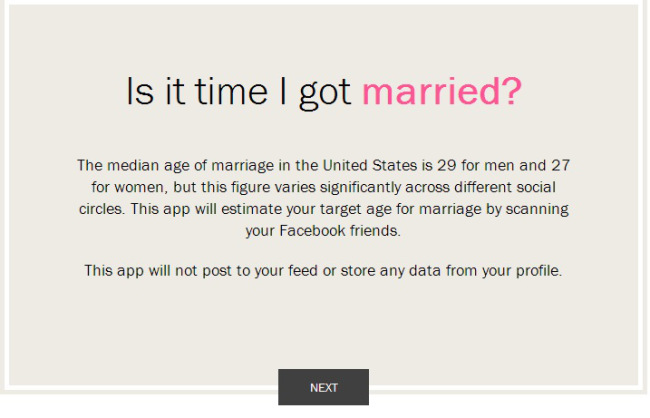 Time Can Predict Your Perfect Marriage Date by Facebook App