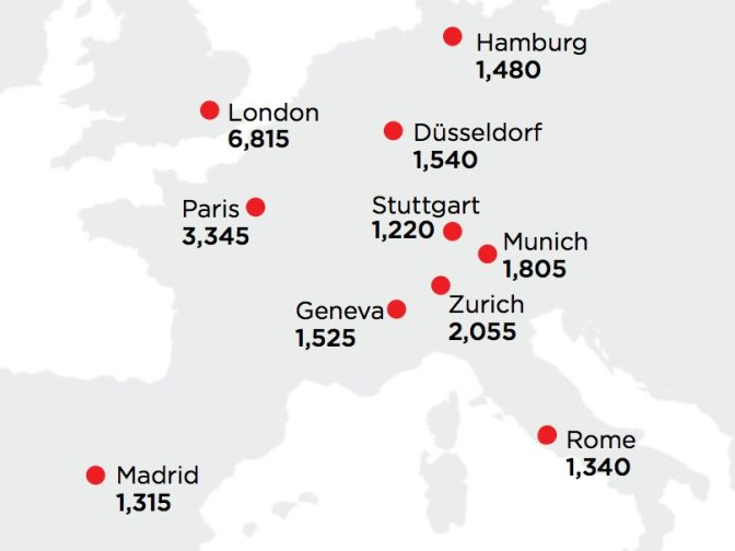 Here's Where Europe's Wealthiest People Live