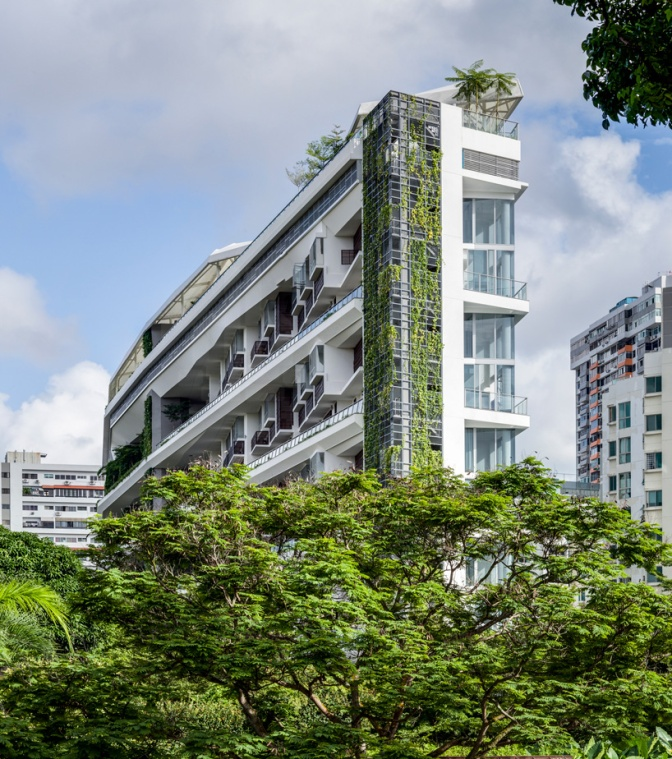 DP architects alternate the garden levels of jardin in Singapore