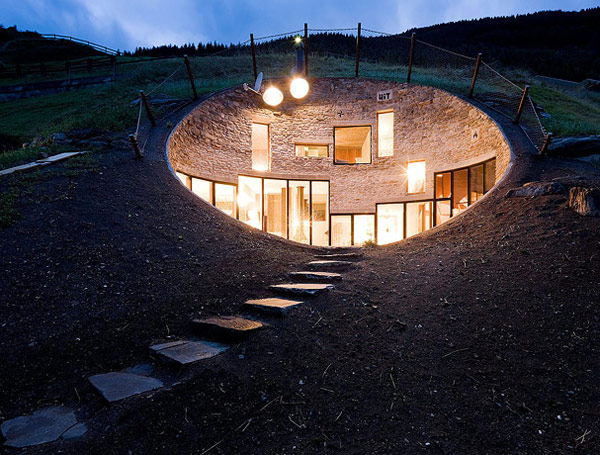 Underground Home Designs – Swiss Mountain House Rocks