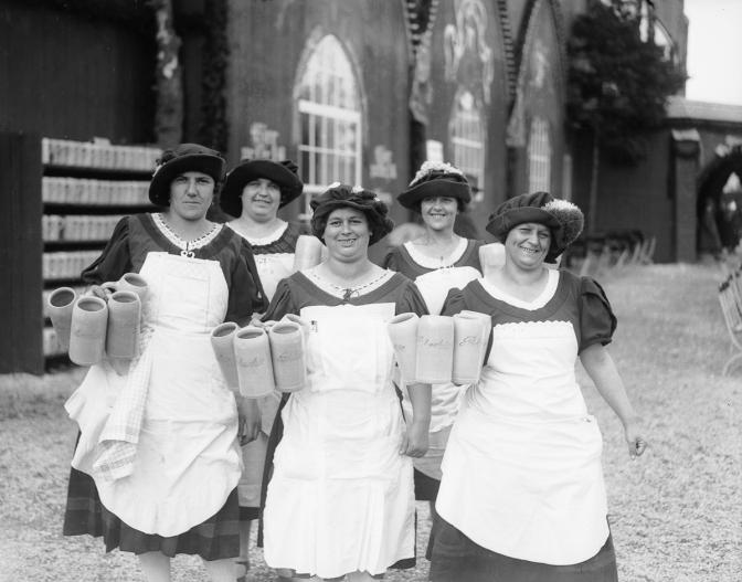1902-1965 Oktoberfest — Beer. Brats. Lederhosen. — by Alex Q. Arbuckle