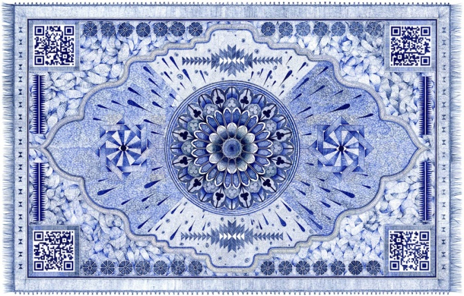Jonathan Bréchignac Draws Painstakingly Detailed Carpets With Ball-Point Pens