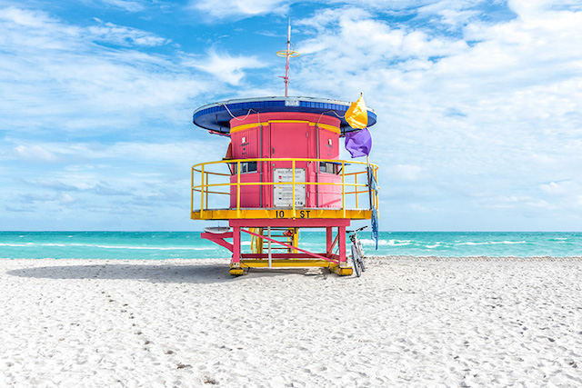 Lifeguard Chairs in South Beach Miami