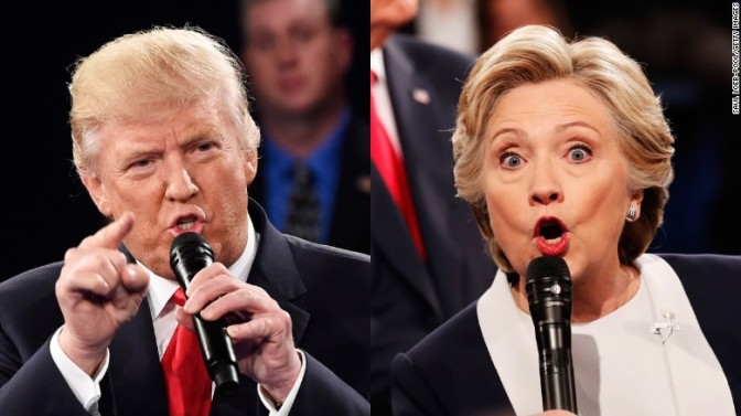US presidential debate: Trump launches ferocious attack on Clintons