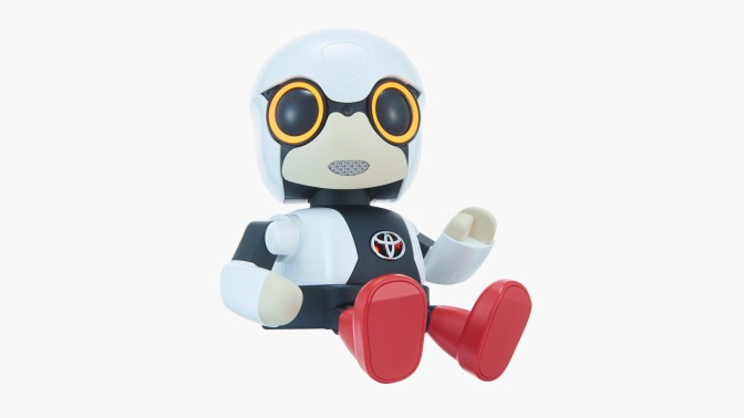 Toyota Introduces Adorable Cupholder-Size Robot To Make You Less Lonely