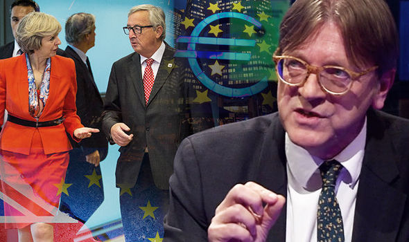 EU threatens UK with astronomical £500BILLION Brexit DIVORCE BILL