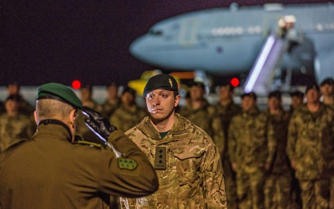 British troops arrive in Estonia as German spy chief warns of Russian troop build up