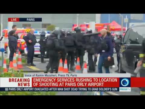 Orly airport: Man killed after seizing soldier's gun