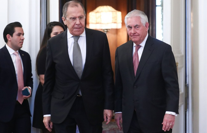 Lavrov and Tillerson hold talks in Moscow
