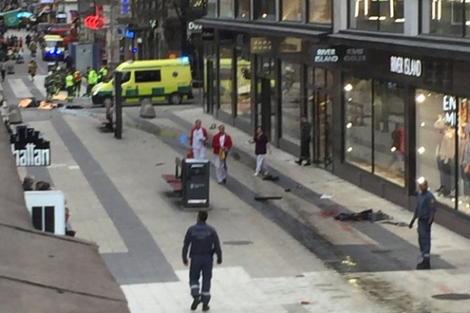 Sweden 'terror attack': Truck ploughs into crowd in Stockholm – live updates