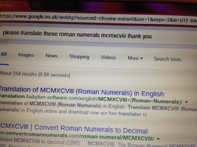 Nan gets perfect response to her very polite Google search