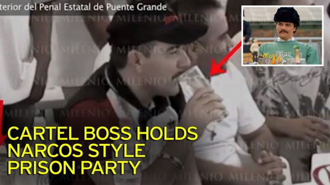 Just like Narcos: Drugs bosses host 'secret' boozy party behind bars with whisky, tacos and dancing girls
