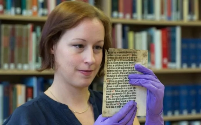Rare Medieval text printed by William Caxton found in Reading University archives
