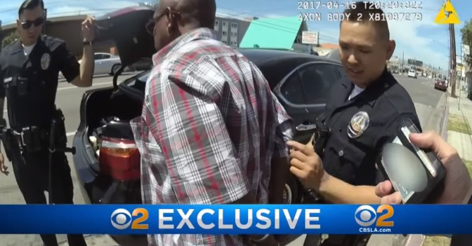 An LAPD officer accidentally filmed himself putting cocaine in a suspect's wallet