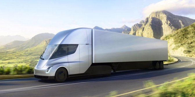 Tesla just unveiled its first electric semi — and it looks like a spaceship
