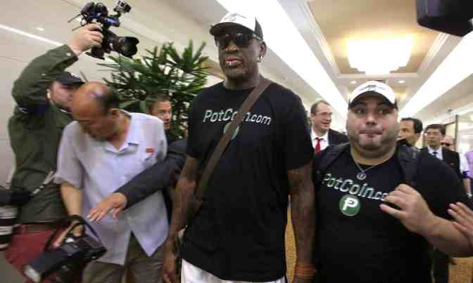 Newly appointed ambassador to North Korea Dennis Rodman travels to Pyongyang despite travel ban as tensions speed up