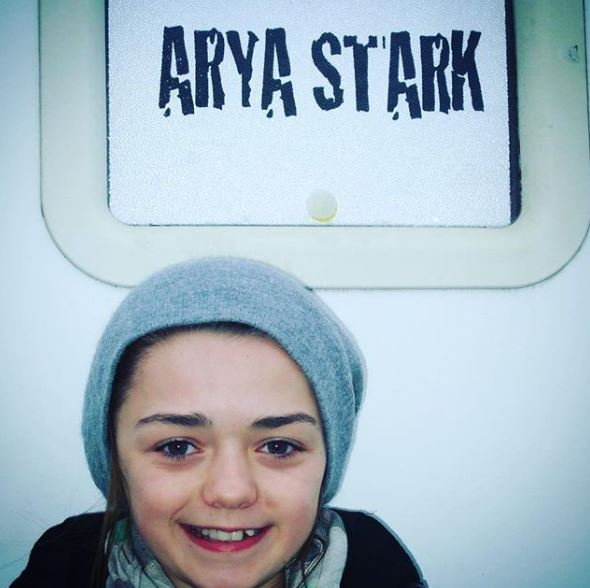 'Game of Thrones' star Maisie Williams shares an adorable throwback photo of her first day on set