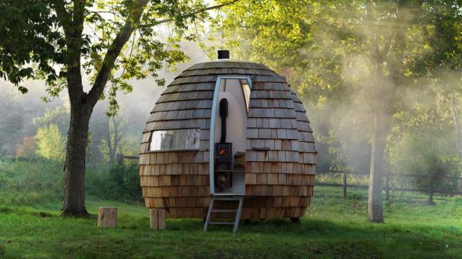 Meet Escape Pod, the Perfectly Minimalist (and British) Backyard Getaway