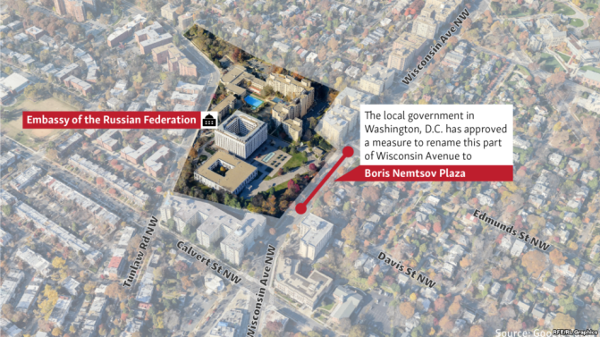 Washington To Get Boris Nemtsov Plaza In Front Of Russian Embassy