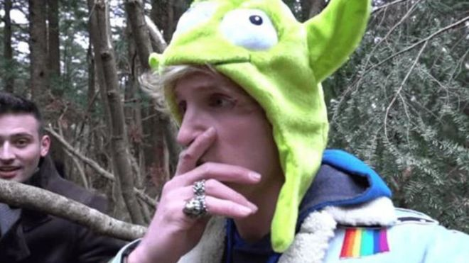 Logan Paul: Outrage over YouTuber's dead body video