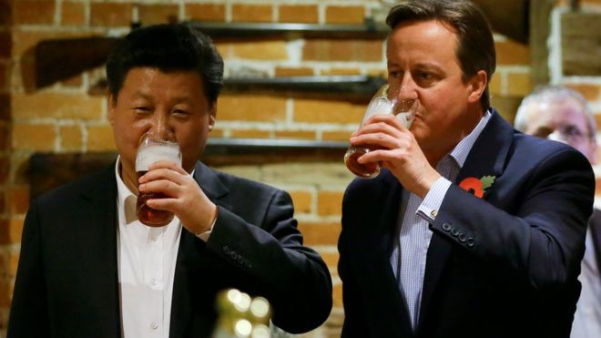 Chinese business chiefs pay £12,000 for dinner with David Cameron