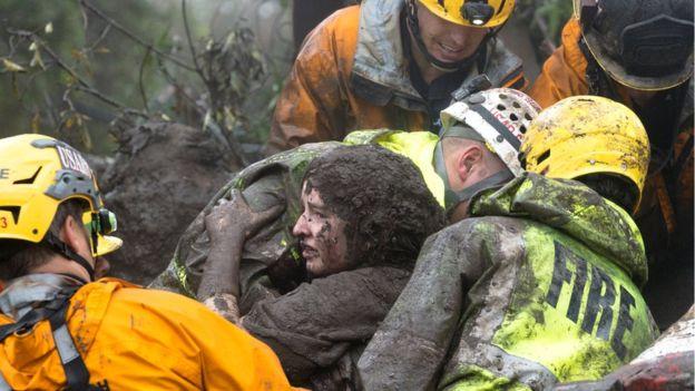 California: Rescuers search for mudslide survivors, 13 dead already
