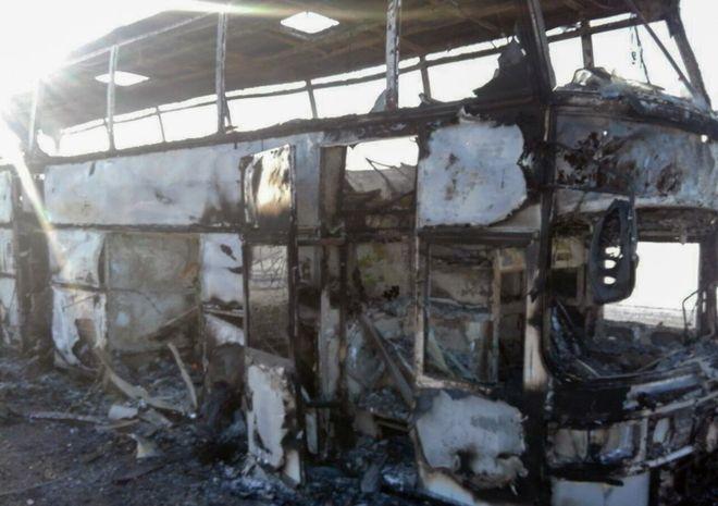Kazakhstan bus fire kills 52