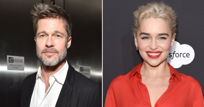 Brad Pitt Unsuccessfully Bids $120,000 to Watch Game of Thrones with Star Emilia Clarke