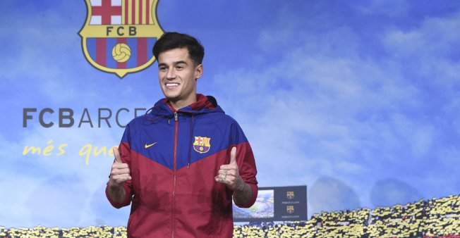 Brazilian football star Philippe Coutinho officially joins Barcelona