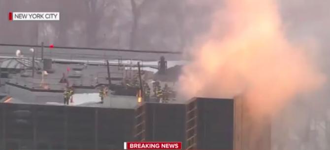 Trump Tower in midtown Manhattan caught fire