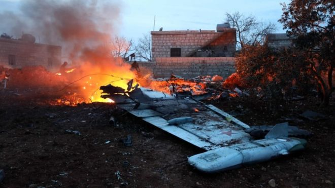 Russia Confirms Warplane Downed Over Syria, Pilot Dead